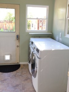 The laundry room before the counter was built.